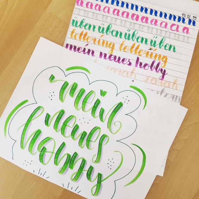 LetterLovers - fraeulein.hoffmann - Handlettering mein neues Hobby