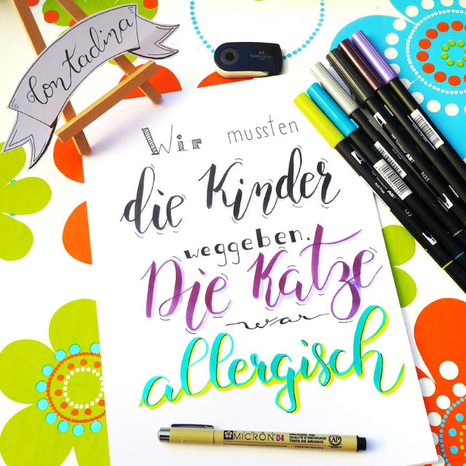 Letter Lovers Contadinasway - Handlettering Kinder und Katze