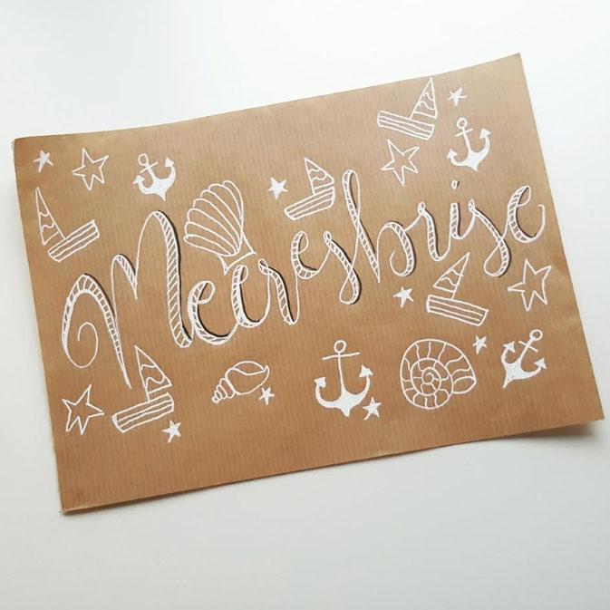 Letter Lovers larakraft: Handlettering Meeresbrise