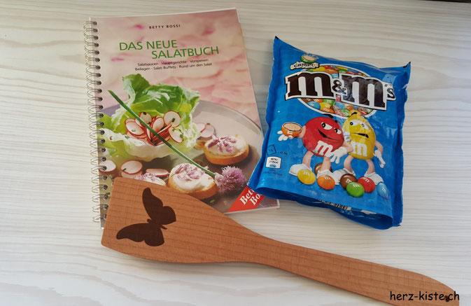 Sommerwichteln - Kochbuch, M&M's und Kochkelle