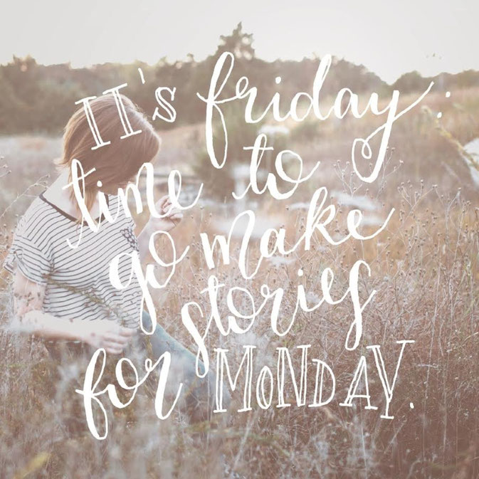 Letter Lovers frau_mesas: Handlettering it's friday time to go make stories for monday