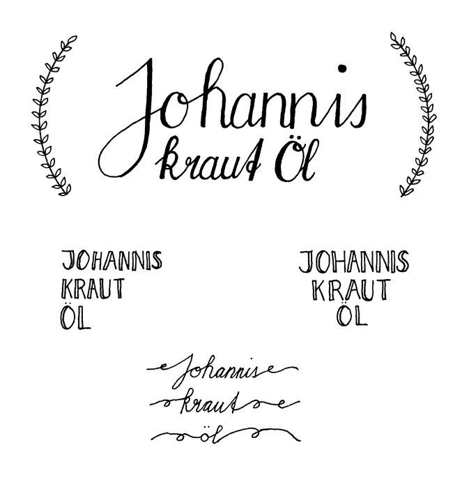 Handlettering Johanniskrautöl zum Download