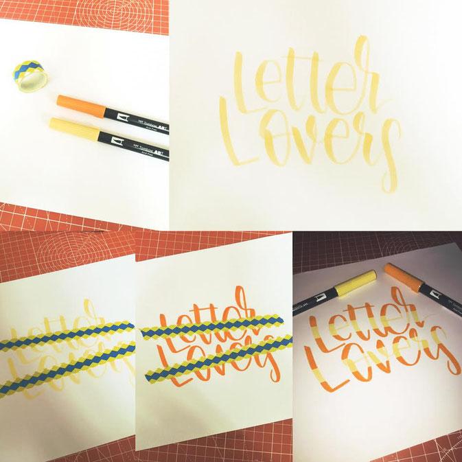 Letter Lovers - fraeulein.hoffmann zeigt die Abklebetechnik