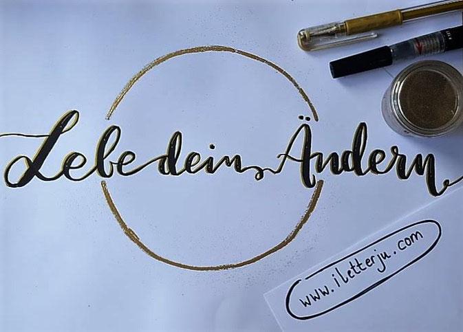Letter Lovers - iletterju - Lebe dein Ändern - Embossing