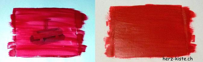 Rubellos selber machen mit Farbe übermalen