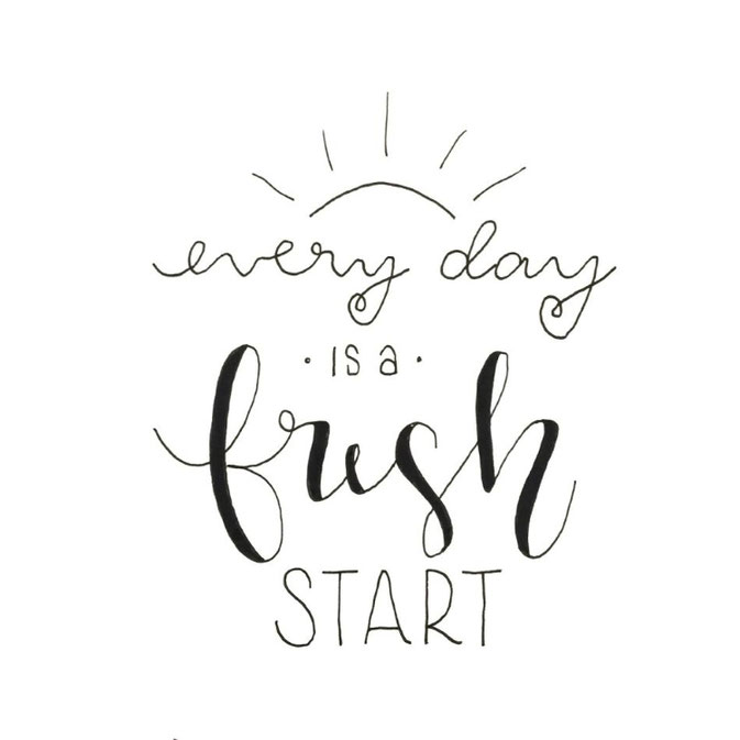 Letter Lovers frau_mesas: Handlettering every day is a fresh start