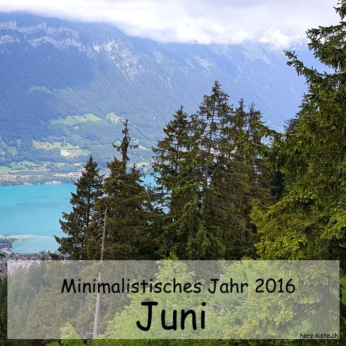 Titelbild - Minimalistisches Jahr 2016 - der Juni