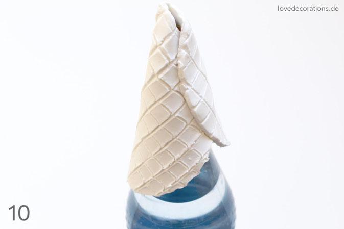 DIY Eiswaffeln aus Fimo - Schritt 10