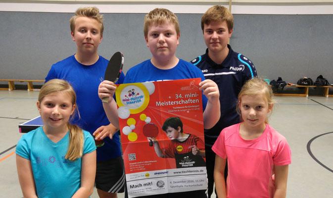 Der Hülser Nachwuchs freut sich auf viele junge Talente in der Sporthalle.