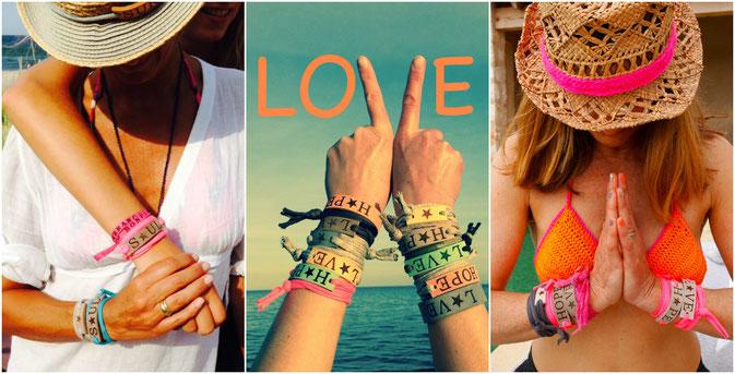 BYRH Beach Armbänder - Leder + Jersey - shops von Sylt bis Zrüich