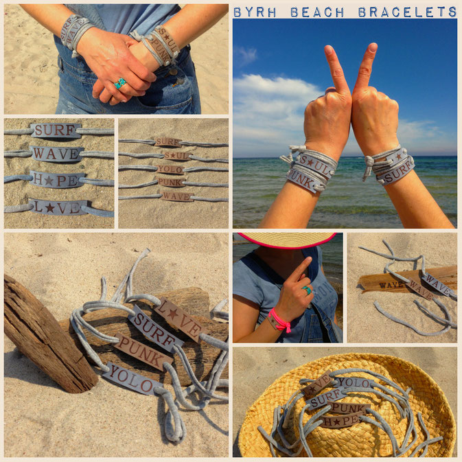 BYRH Beach Armbänder - Surf, Wave, Punk, Yolo, Soul
