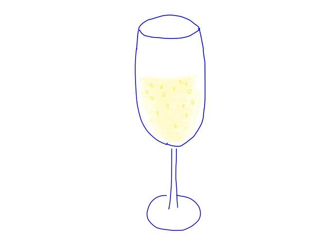 アイコン 「スパークリングワイン」 (作: 塚原 美樹)
