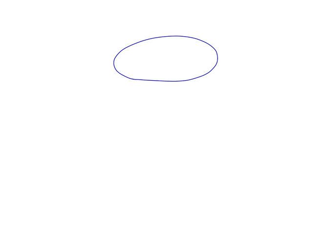 アイコン 「ワイン」 (作: 塚原 美樹) ~ グラスの口の部分を描く