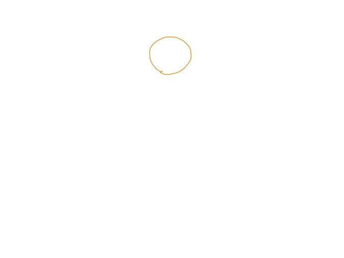 アイコン 「ヨガ」 (作: 塚原 美樹) ~ 頭を描く