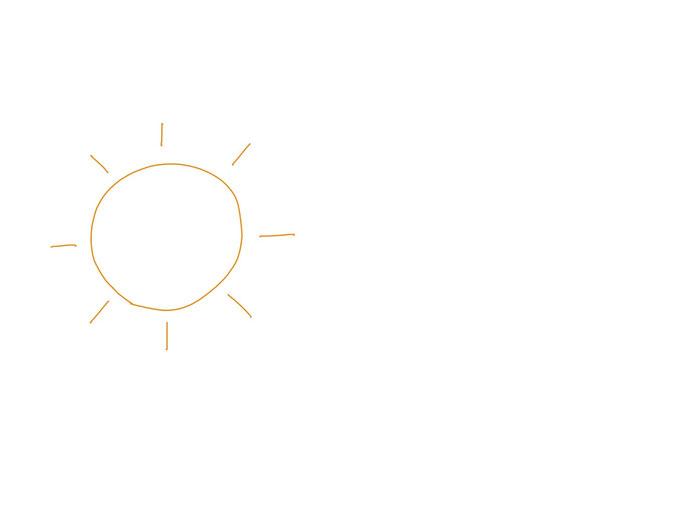アイコン 「朝」 (作: 塚原 美樹) ~ 左側に太陽を描く