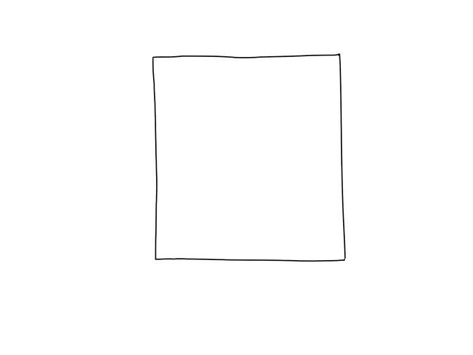 アイコン 「会社」 (作: 塚原 美樹) ~ 建物全体を四角く描く