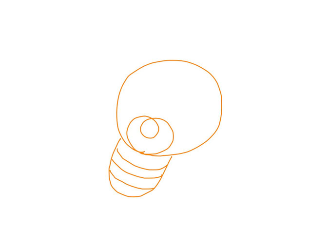 アイコン 「電球」 (作: 塚原 美樹) ~ 電球の取り付け部分を描く