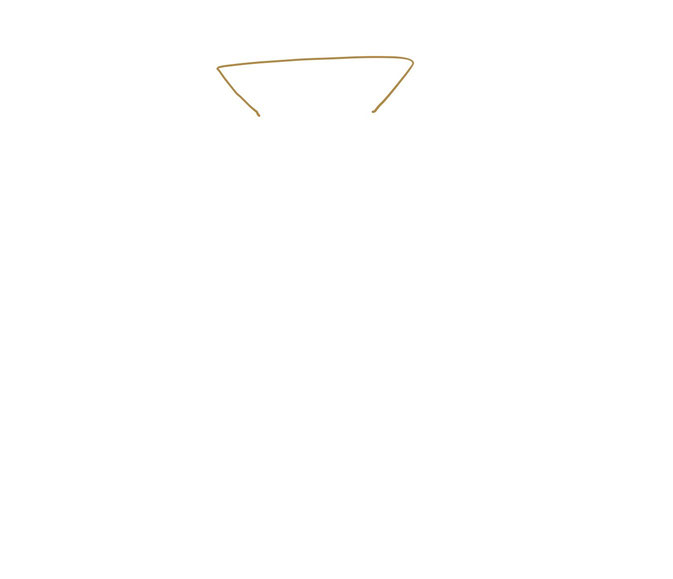 アイコン 「お金」 (作: 塚原 美樹) ~ 金貨袋の口の部分を描く