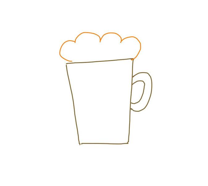 アイコン 「ビール」 (作: 塚原 美樹) ~ 泡をおおげさに描く