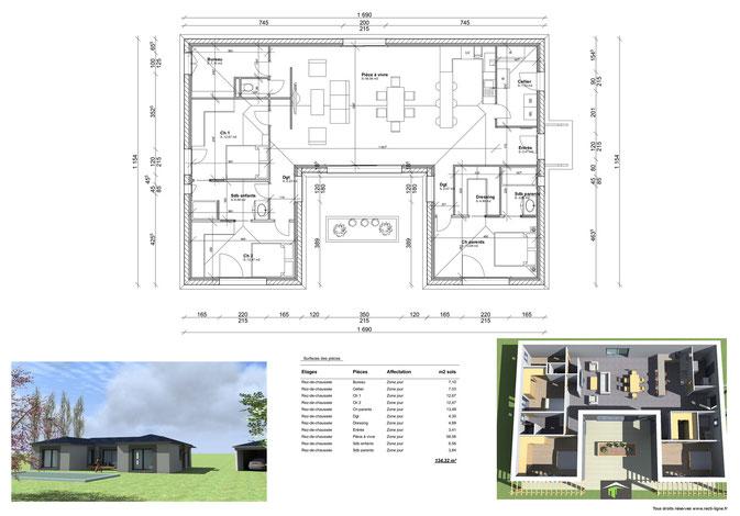 maison traditionnelle dessinateur plans permis de construire etudes thermiques. Black Bedroom Furniture Sets. Home Design Ideas