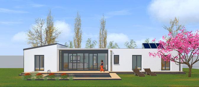 maison contemporaine dessinateur plans permis de construire etudes thermiques. Black Bedroom Furniture Sets. Home Design Ideas