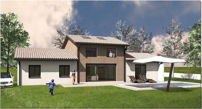 Plan maison architecte toulouse 155 m²