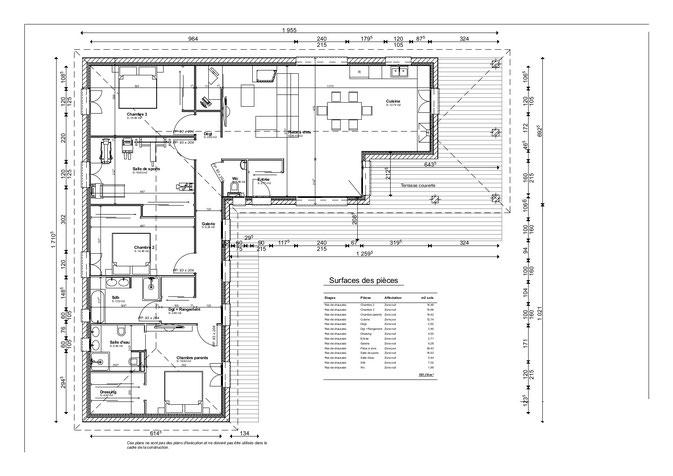 Maison contemporaine dessinateur plans permis de for Plan maison architecte contemporaine