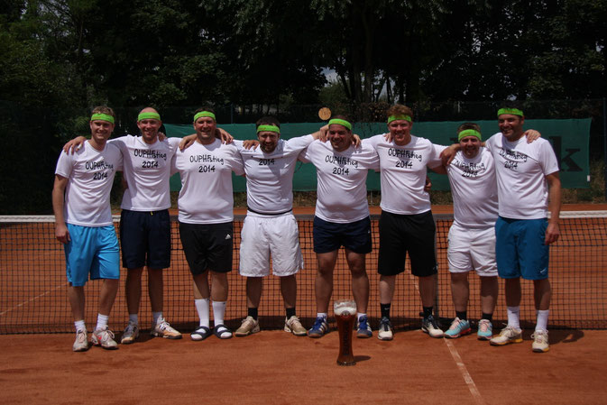 v. l.: A. Weinsheimer, F. Scherer, M. Berner, D. Roos, M. Albrecht, M. Legrum, J. Batzler, St. Gienow (Foto: M. Albrecht)