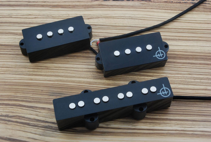 HAND WOUND P J PICKUP SET FOR BASS GUITAR