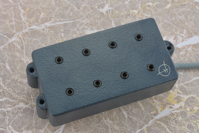 8 coil pickup in graphite grey, hand wound for MM / OLP type bass guitars