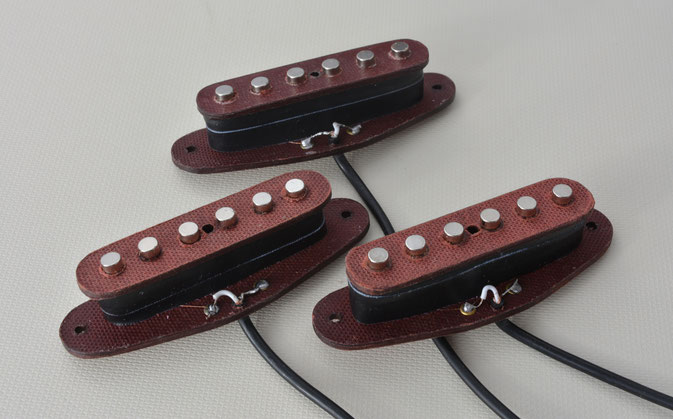 STRAT SINGLE COIL PICKUPS,  FIBRE FLATWORK  VERSION