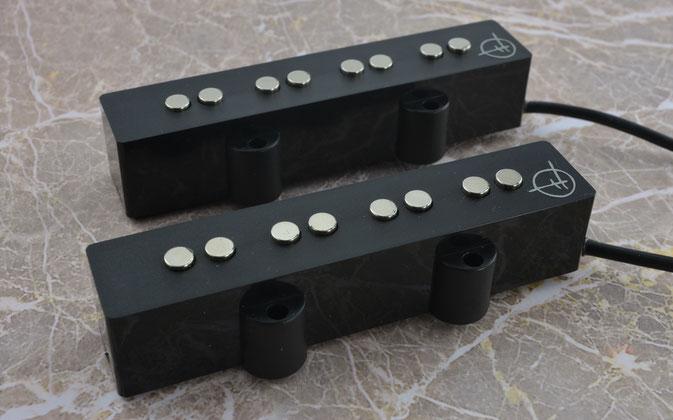 Jazz pickups, hand wound with neodymium magnets