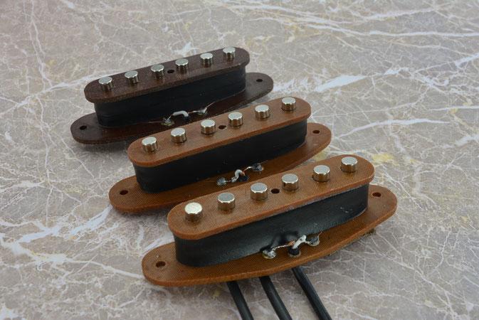 Strat single coil set, tough phenol bobbin version with neodymium magnets