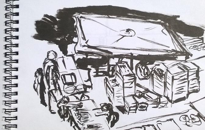 Tourisme,visite Marché des Capucins créative originale, carnet de voyage, bordeaux
