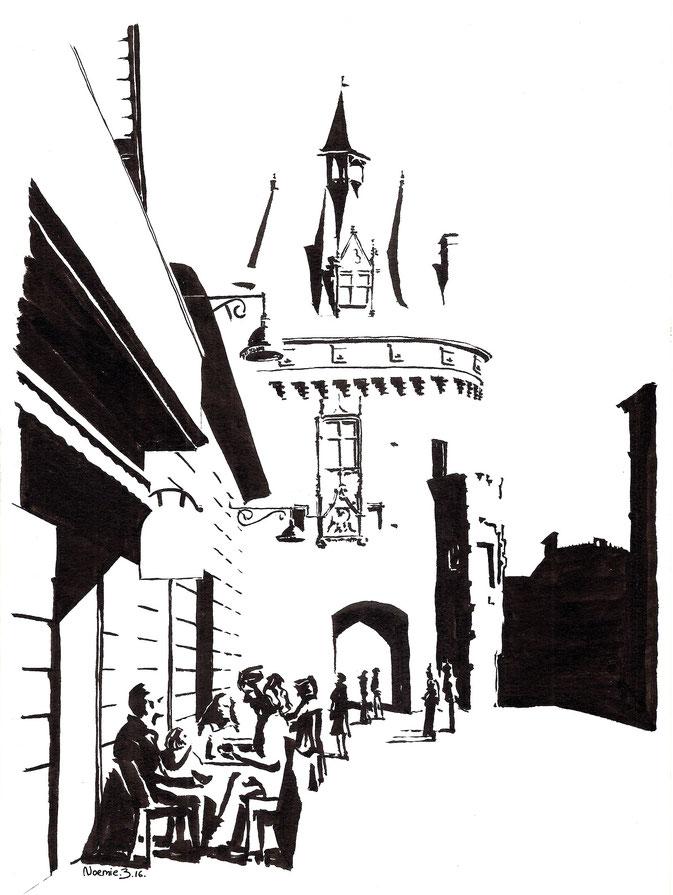 dessin, Porte cailhau place du palais bordeaux, atelier, cours