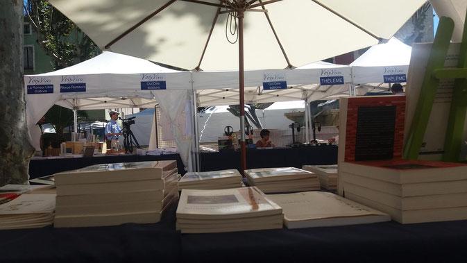 """Festival de Poésie Voix Vive à Sète pour la dédicace de mon livre  de TANKA """" Tes silences et te murmures"""" et vente de livres de GRAINES de VENT 22-30 Juillet 2016"""