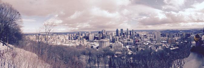 Vue sur Montréal depuis le Belvédère du Mont-Royal.