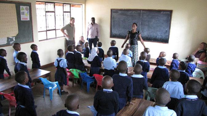 Die 5- und 6-Jährigen während des Unterrichts