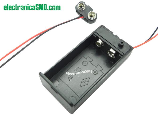 portabateria 9v, conector bateria 9v, bateria 9v, electronica, electronico, guatemala, portapila portabaterias guatemala