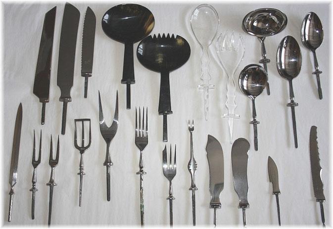 Klingen tauschen Modelle Vorderteile Besteck Messer Gabel Löffel
