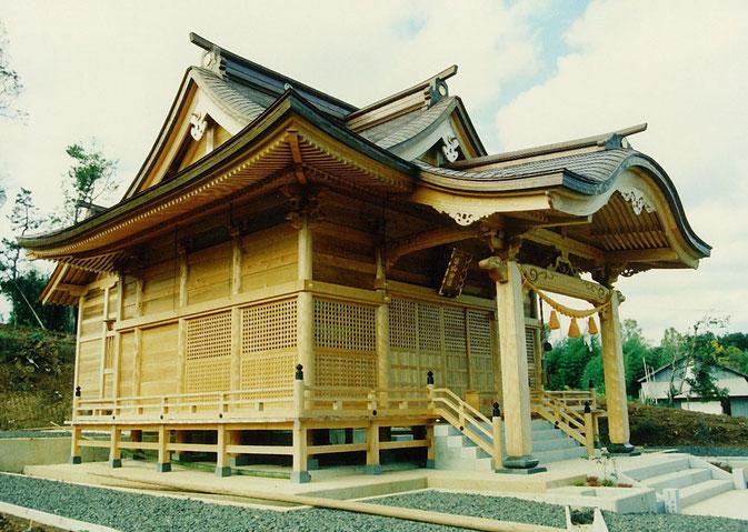 柴山神社(平成1年 能登島 閨町)