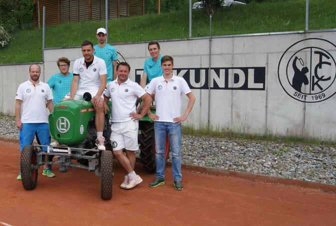 v.l.n.r.: Franz Hartner, Benjamin Praxmarer, Günter Lorenzer, Guido Sandichler, Andreas Fuchs, Georg Fankhauser und Philipp Dessl