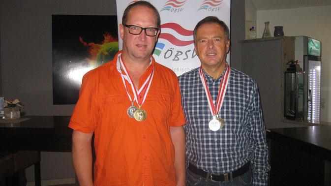 Die beiden Finalisten im Einzel - Wolfgang Bliem und Ferdinand Mader.