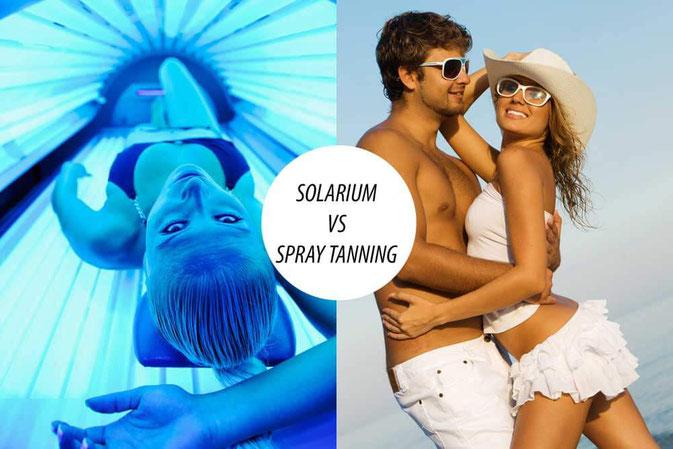 Bild: Alternative zum Solarium ist Spray Tanning, die Sprühbräune