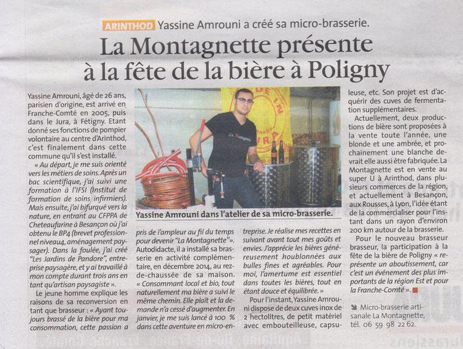 """Article du journal ''La voix du Jura"""""""