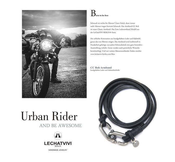 Armband Herren Leder Biker