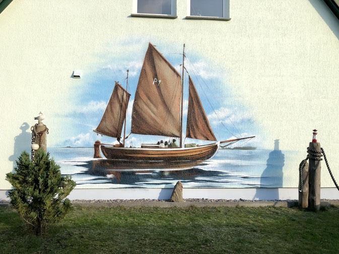 Zeesenboot Graffiti Ostsee