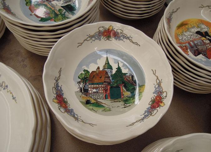 Typische Lothringen: ein Teller aus Saint Clément