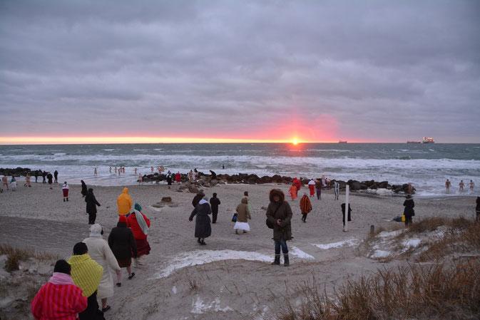 Winterbaden in Skagen, im Hohen Norden Dänemarks: Foto: Isbryderne/PR