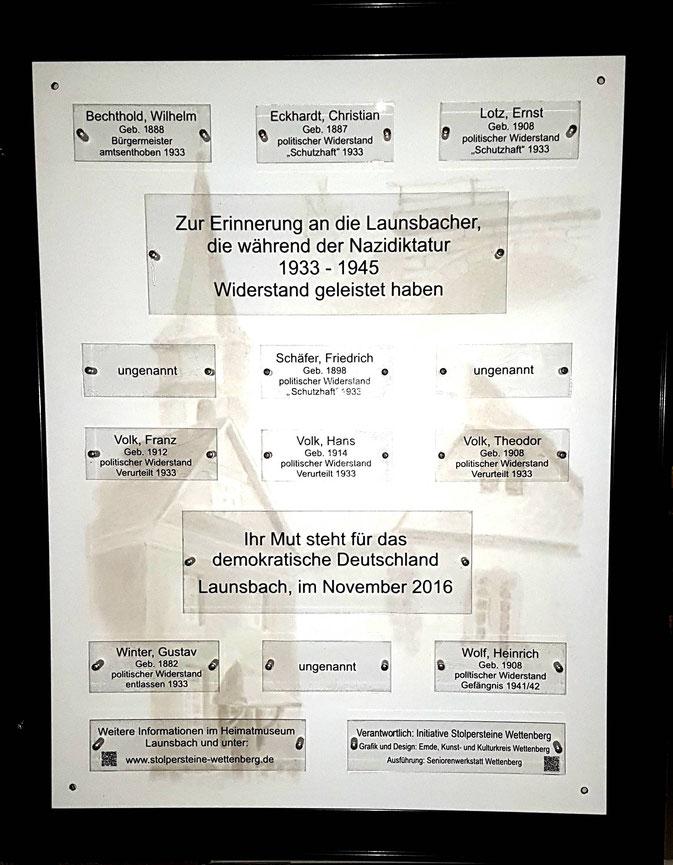 Gedenktafel Launsbach